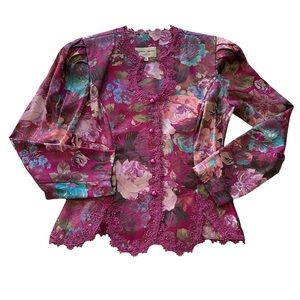 Nah nah collection floral print blazer jacket 10